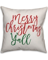 Jaxn Blvd Merry Christmas Y'all Throw Pillow 5197-L