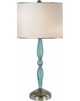 Thumprints Juliet Turquoise Blown Glass Table Lamp