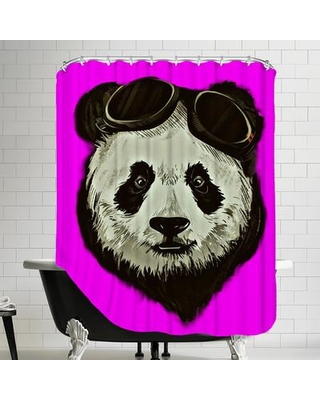 East Urban Home Panda Bear Shower Curtain ESRB5551 Color Pink