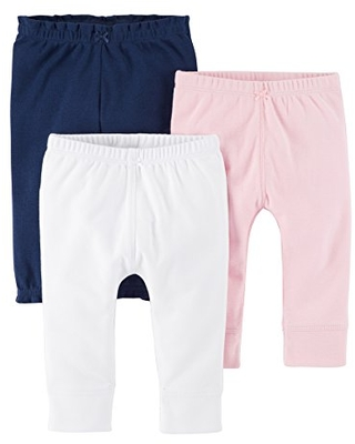 Carter's baby girls 3-pack Pants, Pink/Navy, 24 Months US