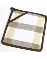 Flato Home Check Pot Holder 1400000047 Color: Taupe/Brown
