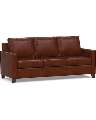 Cameron Square Arm Leather Sofa Polyester Wred Cushions Statesville Moles
