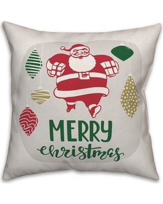 The Holiday Aisle Zampa Merry Christmas Throw Pillow W000486379