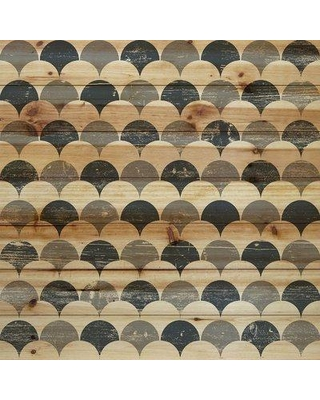 """Marmont Hill 'Bubbles in Rows' Graphic Art Print on Wood MH-GEWDCU-503-BDW Size: 32"""" H x 32"""" W"""