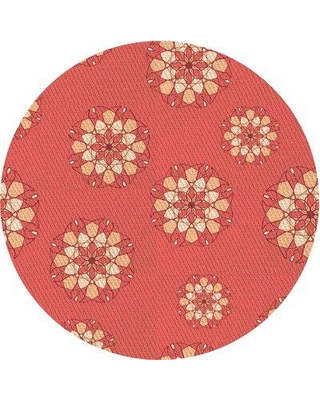 East Urban Home Floral Wool Pink Area Rug X111733575 Rug Size: Round 4'