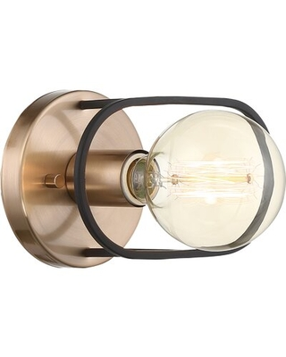 New Deal For Kanosh 1 Light Dimmable Copper Brushed Brass Flush Mount 17 Stories