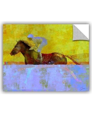 """ArtWall Rising Steed' by Greg Simanson Removable Wall Decal JJM8591 Size: 18"""" H x 24"""" W x 0.1"""" D"""
