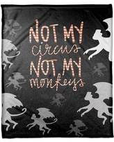 "The Holiday Aisle Not My Circus Not My Fleece Throw THDA5460 Size: 30"" W x 40"" L"