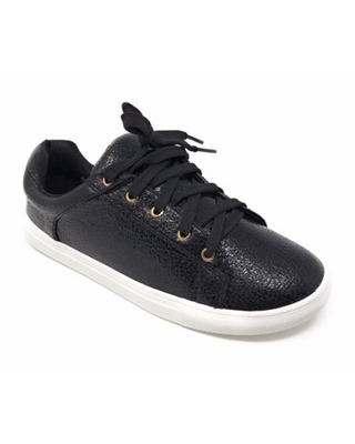 Forever Young Women's Metallic Textured Lace up Sneakers