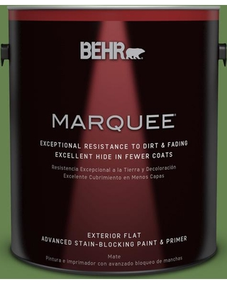 BEHR MARQUEE 1 gal. #430D-6 Happy Camper Flat Exterior Paint and Primer in One
