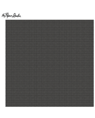 "Black & White Tiny Polka Dot Scrapbook Paper - 12"" x 12"""