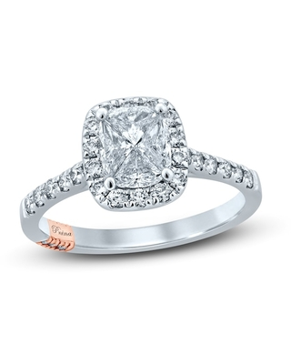Jared The Galleria Of Jewelry Pnina Tornai That's My Ring Diamond Engagement Ring 1 ct tw Pie/Round 14K Two-Tone Gold