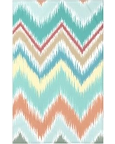 """e by design Ikat-arina Stripe Print Polyester Fleece Throw Blanket HSN142 Size: 60"""" L x 50"""" W x 0.5"""" D, Color: Seed"""
