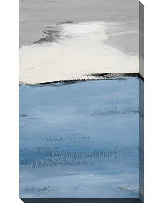 "Ebern Designs 'Blue Flatlands II' Acrylic Painting Print on Canvas BF163659 Size: 60"" H x 36"" W x 1.5"" D"