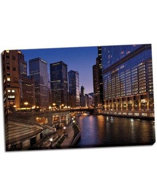 Ebern Designs 'Chicago River Dusk II' Photographic Print on Wrapped Canvas BF053062