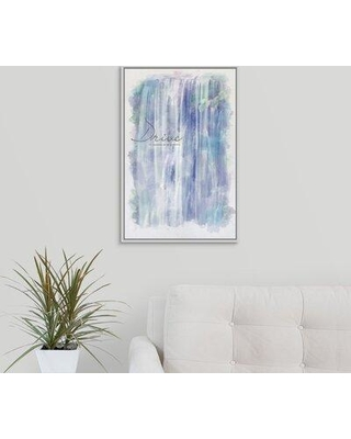"""Winston Porter 'Watercolor Inspirational Poster: Our Aspirations are Our Possibilities' Textual Art Print on Canvas X112719402 Format: White Framed Size: 25.7"""" H x 17.7"""" W x 1.75"""" D"""