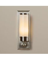 Get This Deal On Wade Logan Crivello 1 Light Sconce Finish Classic Bronze Glass Metal In Bronze Polished Nickel Nickel Size 14 H X 4 W X 4 D Wayfair