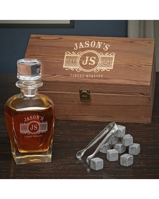 Sheller Personalized 24 oz. Whiskey Decanter