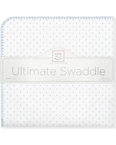 Swaddle Designs Ultimate Receiving Blanket® in Polka Dots SD-001B Color: Pastel Blue
