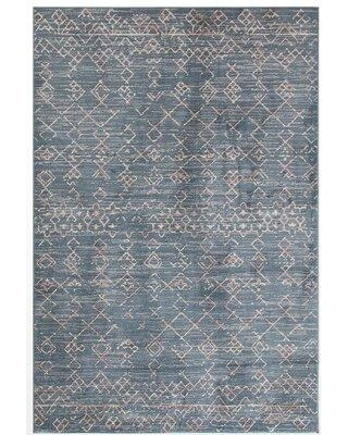 """Foundry Select Rolla Blue Area Rug W001574269 Rug Size: Rectangle 5'3"""" x 7'6"""""""