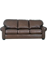 sofa couch leather chaise fashionable with worn distressed