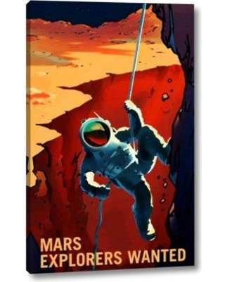 "East Urban Home 'Explorers Wanted' by NASA Giclee Art Print on Wrapped Canvas BF098883 Size: 32"" H x 20"" W x 1.5"" D"