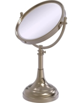 Allied Brass 8 in. x 23.5 in. x 5 in. Vanity Top Make-Up Mirror 2X Magnification in Antique Pewter