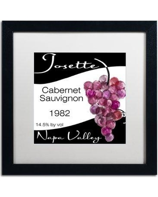 """Trademark Art 'Wine Valley Two' Framed Vintage Advertisement ALI4393-B1 Mat Color: White Size: 16"""" H x 16"""" W x 0.5"""" D"""