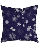 SafiyaJamila Holiday Treasures Throw Pillow UltiSnow_ Color: Purple