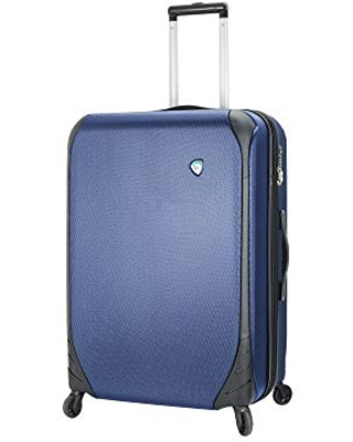Mia Toro Italy Aquila Hardside 24 Inch Spinner Luggage, Blue, One Size