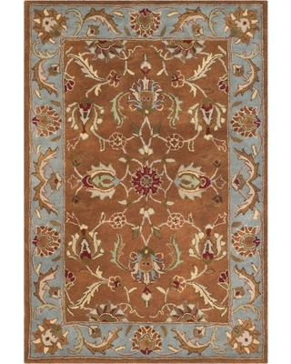 Brown/Blue Floral Tufted Area Rug 4'X6' - Safavieh
