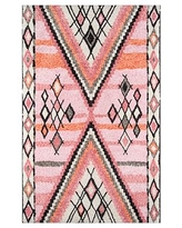 Zoie Tufted Rug, 9 x 12', Pink Multi