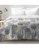 East Urban Home Boho Skull and Feathers Pattern Comforter Set EAHU7650 Size: Full/Queen