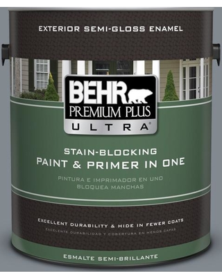 BEHR Premium Plus Ultra 1 gal. #PPU26-21 Overcast Semi-Gloss Enamel Exterior Paint and Primer in One