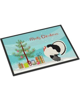 """The Holiday Aisle Claire Royal Palm Turkey Christmas Door Mat HDAY2297 Mat Size: Rectangle 1'6 x 2'3"""""""