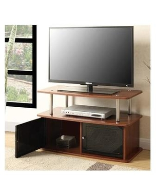 TV Stand /w 2 Cabinets in Cherry Finish - Convenience Concepts 151160CH