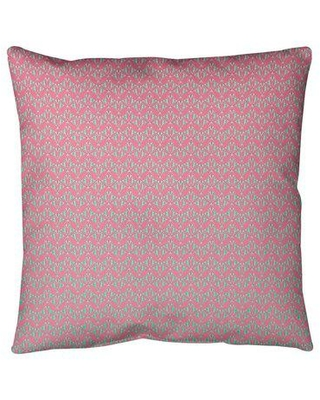 """Ebern Designs Leffel Art Deco Floor Pillow, Polyester/Polyfill/Synthetic in Pink/Green Ombre, Size 40"""" x 40"""" 