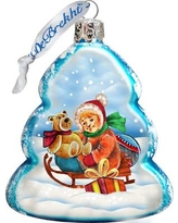 The Holiday Aisle Sleigh Ride Glass Ornament THLY6697