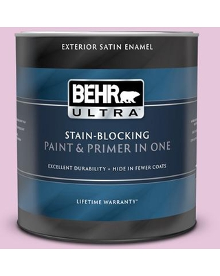 BEHR ULTRA 1 qt. #M120-2 Kiss Good Night Satin Enamel Exterior Paint and Primer in One