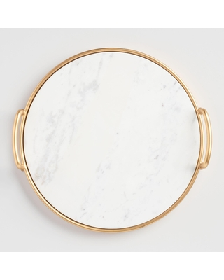Marble And Gold Serving Tray by World Market