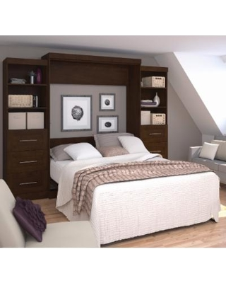 """Pur by Bestar 115"""" Queen Wall Bed kit in Chocolate - Bestar 26884-69"""