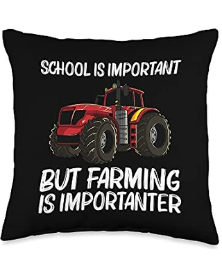 Best Tractor Engine Mining Loading Monster Designs Cool Tractor Gift For Boys Kids Big Farming Vehicle Truck Throw Pillow, 16x16, Multicolor