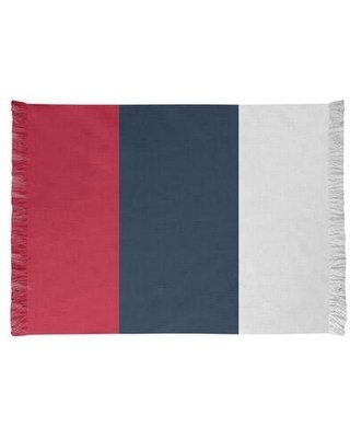 East Urban Home Tennessee Red Football Red/Dark Blue Area Rug FCJK0566 Backing: Yes