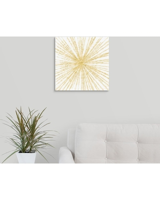 """GreatBigCanvas """"Spinning Gold""""by Linda Woods Canvas Wall Art, Multi-Color"""