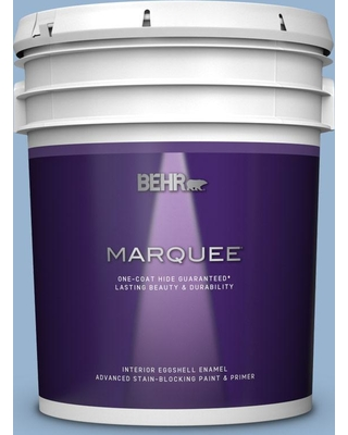 BEHR MARQUEE 5 gal. #PPU14-10 Blue Suede Eggshell Enamel Interior Paint and Primer in One