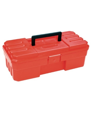 Akro-Mils 12-Inch ProBox Plastic Toolbox for Tools, Hobby or Craft Storage Toolbox, Model 09912, (12-Inch x 6-Inch x 4-Inch), Red
