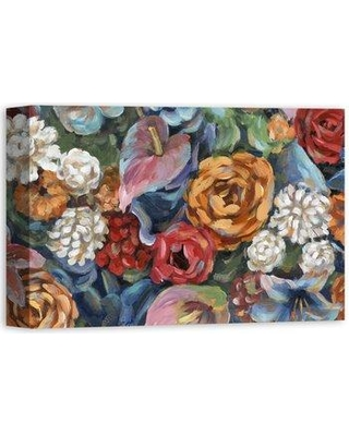 "Alcott Hill 'Floral Fiesta' Acrylic Painting Print on Canvas ALTH1122 Size: 12"" H x 18"" W Format: Wrapped Canvas"