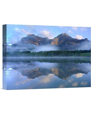 """East Urban Home 'Fortress Mountain Shrouded' Photographic Print on Wrapped Canvas NNAI4022 Size: 18"""" H x 24"""" W"""