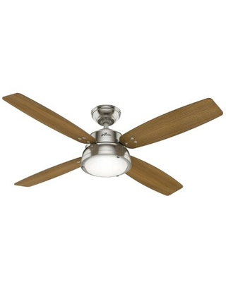 """52"""" Wingate 4 - Blade LED Standard Ceiling Fan with Remote Control and Light Kit Included"""