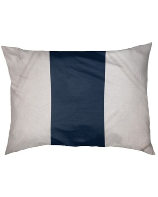 "Tennessee Dog Bed Pillow East Urban Home Size: Medium (28"" W x 18"" D x 6"" H), Color: White/Navy"